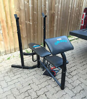 York weight bench and accessories