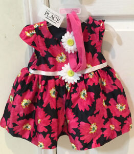 The Children's Place Silk floral dress, brand new with tags.