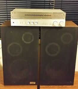 Vintage Home Stereo Receiver and Speakers