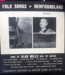 Vinyl album NEWFOUNDLAND Folk Songs circa 1950s