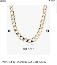 Gold chain for Sale | Men's & Women's Jewellery | Gumtree