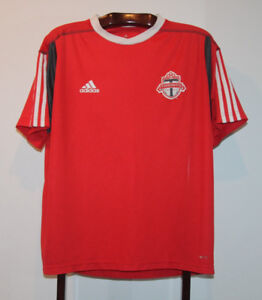 ADIDAS MLS TORONTO FC SOCCER ACADEMY TRAINING JERSEY #49 LARGE
