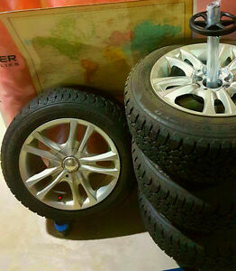 GOODYEAR WINTER TIRES AND ALLOY RIMS FOR SALE!!! Edmonton Edmonton Area image 2