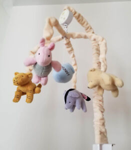 Classic Winnie the Pooh Wind-up Musical Baby Crib Mobile
