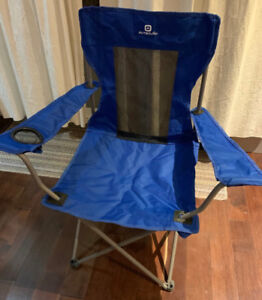 Folding Beach Chairs (Blue) with cup holders