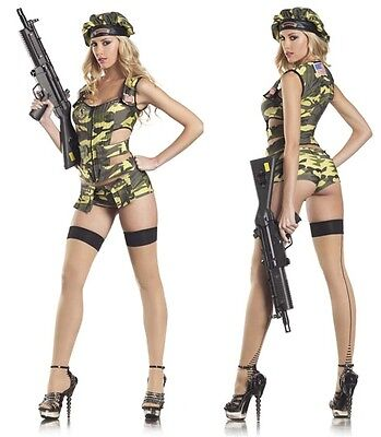 Army Brat Sexy Adult Womens Costume Military Camo Halloween Outfit BW1104](Halloween Women Outfits)