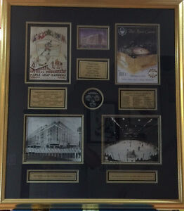 Framed First and Last Games at Maple Leaf Gardens
