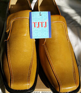 Mens Leather Casual Comfortable Dress Shoes Loafers New Size 10