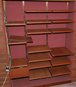 Shelf panels (mahogany veneer) with hardware