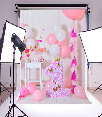 5x7ft Backdrop Background One Year Birthday Baby Girl Vinyl Photo Studio Props](Baby Girl Background)