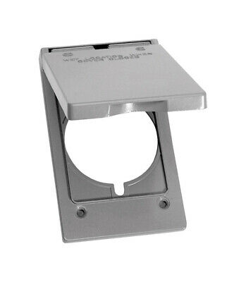 Sigma Electric  Rectangle  Metal  1 gang 30/50 Amp Receptacle Cover  For Wet Loc
