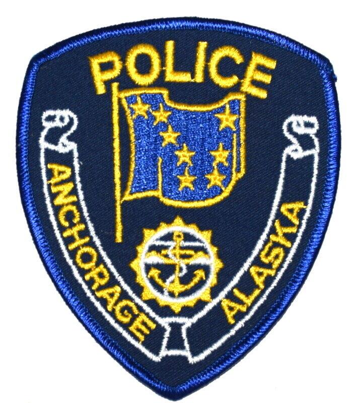 ANCHORAGE ALASKA AK Sheriff Police Patch STATE FLAG VINTAGE OLD MESH ~