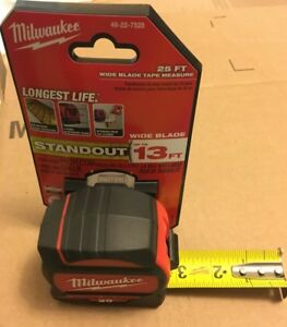 Milwaukee Tool 25 ft Wide Blade Tape Measure - NEW