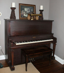 FREE Antique Piano with Bench - Nordheimer