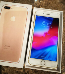 Apple iPhone 7 Plus, 128GB Gold, Unlocked, Like New with Receipt