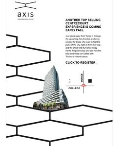 AXIS CONDOS VIP ACCESS & PRICES - YONGE & COLLEGE + FREE LEASING