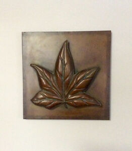 3 Dimensional Copper Tone Metal Wall Art Picture - St. Thomas