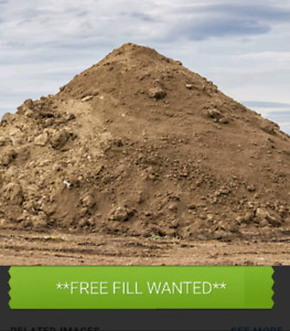 Free fill dirt wanted