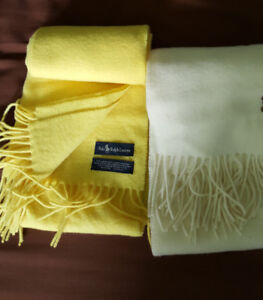Polo Ralph Lauren 100% Lambswool Scarf, Made in Scotland