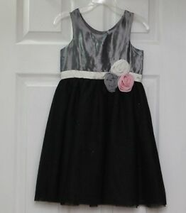 Like New H&M Girl Tulle Dress Sparkle Bottom Size 5-6T