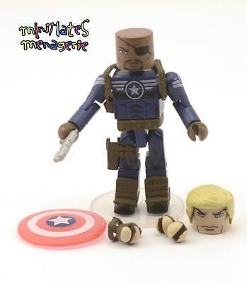 Marvel Minimates Series 51 Nick Fury Jr. with Steve Rogers Parts