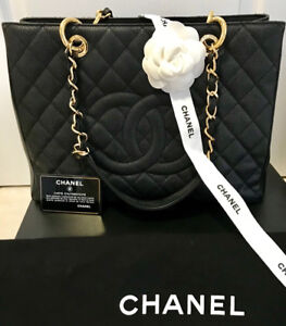 ****CHANEL GST BLACK GHW MINT CONDITION****