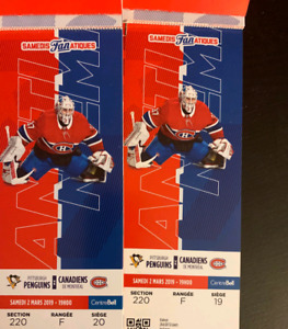 Montreal Canadiens tickets Pittsburgh vs. Montreal Canadiens