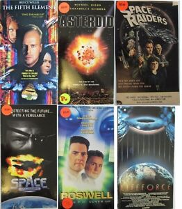 60 Sci-Fi and Fantasy Movies on VHS Tapes