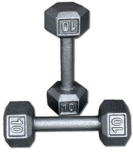 Pair of 10 lb. Dumbbell Weights