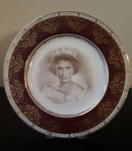 Vintage Queen Elizabeth II 1953 Coronation Plate by Crown Ducal