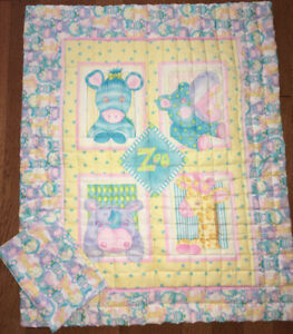 Hand Made Baby Quilt & Pillow Case - Two To Choose From!