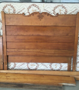 Wooden Bed Frame and mattress (Double/Full)
