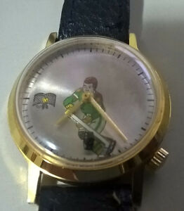 Vintage Men's Hockey Wind-up Watch Swiss Movement Hong Kong
