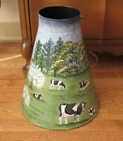 Hand Painted Metal MILK CAN - Cows Hens Barn... City of Montréal Greater Montréal Preview