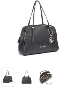 Guess Black Huntley Cali Saffiano Purse