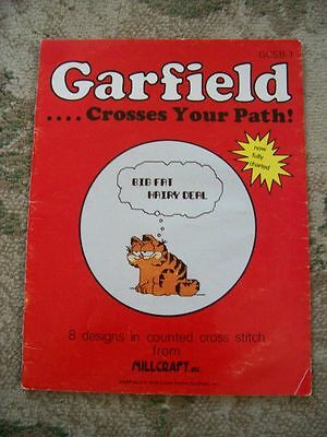 Vtg 70s 1978 Garfield United Feature Syndicate Counted Cross Stitch Designs Book