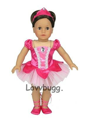 "Lovvbugg Ballet Recital Ballerina Set for 18"" American Girl Doll Clothes"