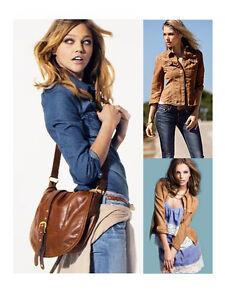 New-Women-Lady-Cool-Slim-Denim-Long-Sleeve-Shirt-Top-Blouse-Brown-Blue