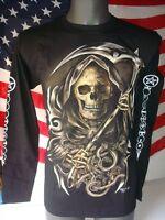 T-shirt M/l Maglia Cotone Teschio Biker America Usa Moto Harley Skull Raduno -  - ebay.it