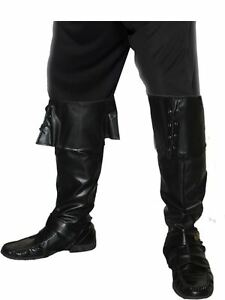 Men's Pirate Boot Covers Fancy Dress