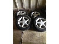 Nissan micra alloys with tyres
