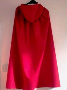 ADULTS-RED-FABRIC-HOODED-CAPE-FOR-FANCYDRESS-RED-RIDING-HOOD-ROYALTY-HWEEN
