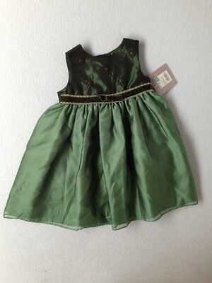 Baby Girl Perfectly Dressed Green Holiday Party Dress Size 18 Months