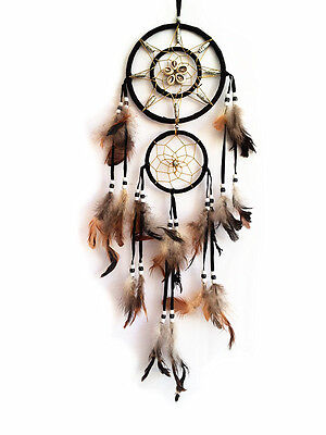 "Handmade Dream Catcher with feather wall hanging decoration ornament-22"" Long"
