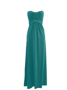 WOMENS PLUS SIZE PLAIN BOOBTUBE STRAPLESS BANDEAU MAXI LONG DRESS-SIZE 16,18,20