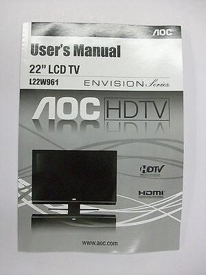 Original User Manual For Aoc Envision L22w961 (brand New)