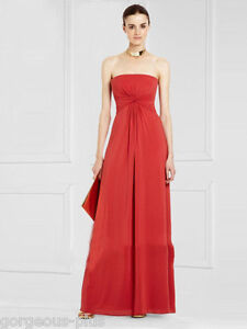 NWT 359 BCBG DRESS LONG GOWN RED SIZE S (4 6)  MARINOLA
