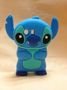 NEW-Blue-3D-Stitch-Silicone-Cover-Case-For-Samsung-Galaxy-Y-S5360