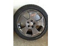 """Audi A3 alloy wheels 17"""" 225/45/17 winter tyres"""