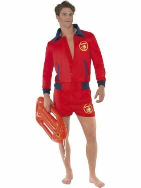 Baywatch Kostum Karneval Manner Lifeguard Hose Jacke Outfit Boje In